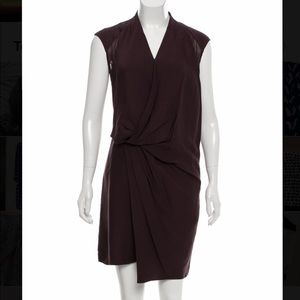 Helmut Lang purple silk knee length dress, sz 4
